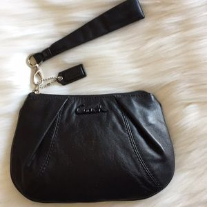 Coach Soft Black Leather Wristlet